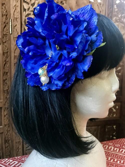 Flower hair ornament-Blue