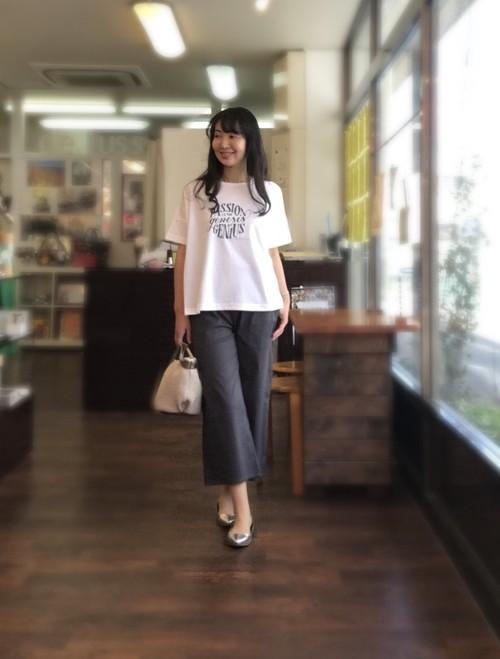 【Passion】大人をきれいに見せるTシャツ Aライン 綿素材