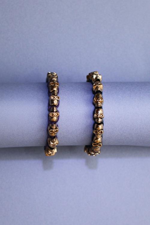 Anthropologie skull bracelet