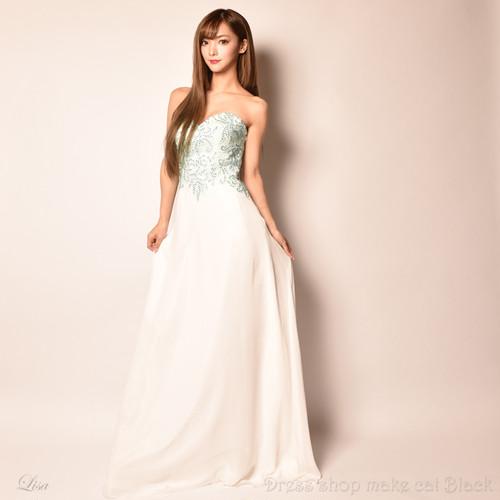 (Sサイズ) 2色展開 ロングドレス パーティードレス 女子会 二次会  D-4991