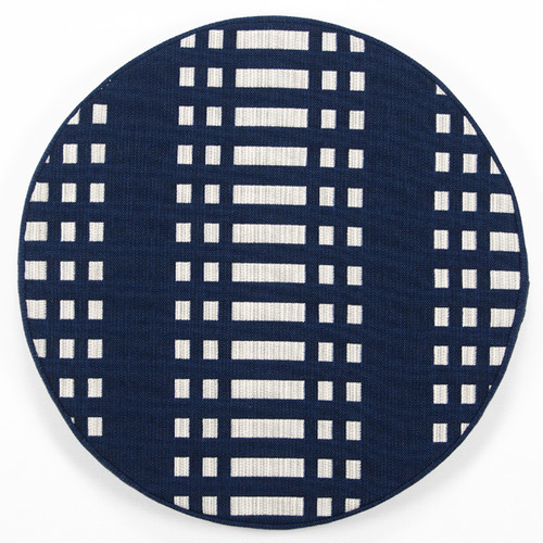 JOHANNA GULLICHSEN Disc Cushion Nereus Dark Blue