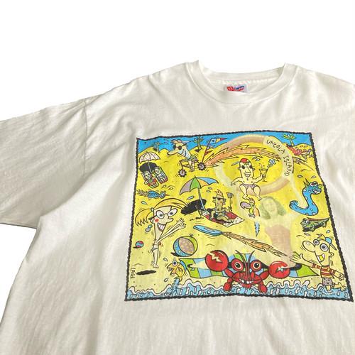 90's 7UP UNCOLA ISLAND ビーチアート Tシャツ