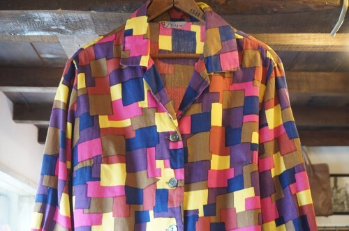 60's mosaic printed cotton Shirt