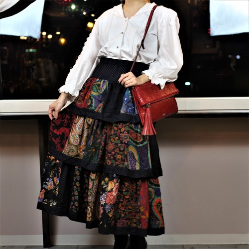 FRENCH VINTAGE TYROLEAN SKIRT MADE IN AUSTRIA/フランス古着チロルスカート