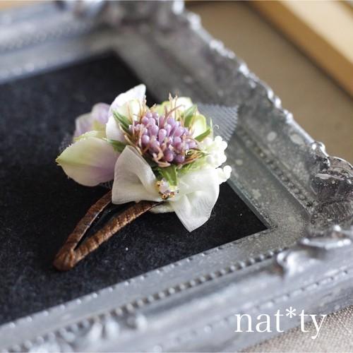 mini bouquet hair pinミニブーケヘアピン(pink)