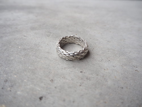 〈vintage silver925〉braided band ring
