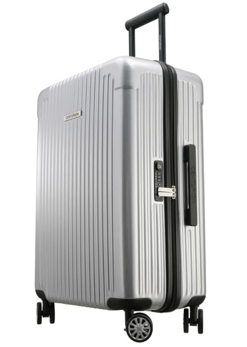 Sサイズ☆超軽量!旅ガールにオススメスーツケース:(34リットル・スマートシルバー)