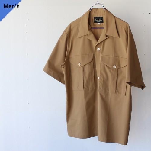 HAVERSACK ハバーサック 822010 コットンシルクグログラン開襟シャツ Beige
