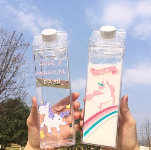 【オーダー商品】牛乳パック タンブラー ドリンク入れ 水筒 韓国 インスタ映え かわいい タピオカ 小物 人気 韓国ファッション