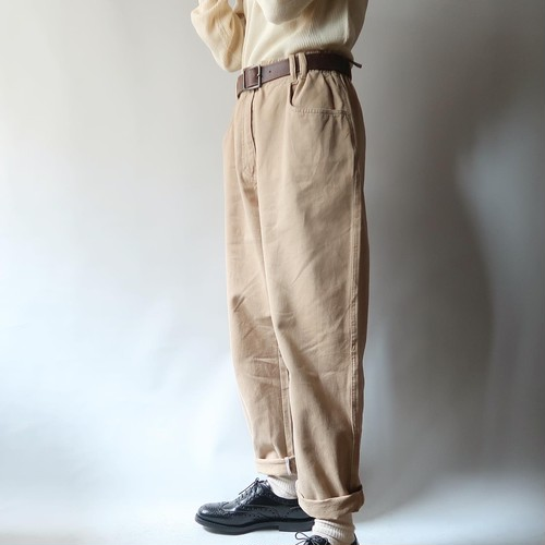 Wide tapered chino pants