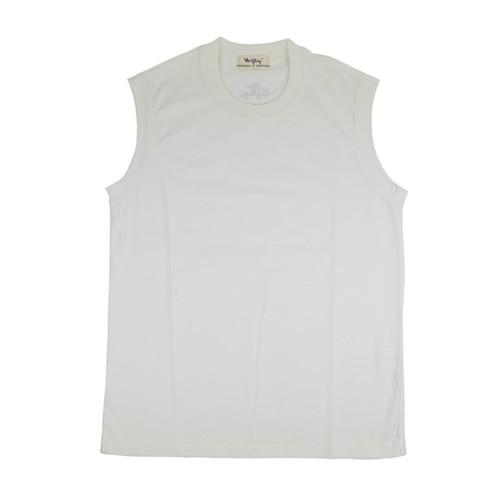 【OR GLORY】 ノースリーブ マッスル Tシャツ 〈White〉