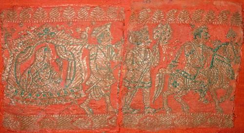 インド絹織物裂<2078>