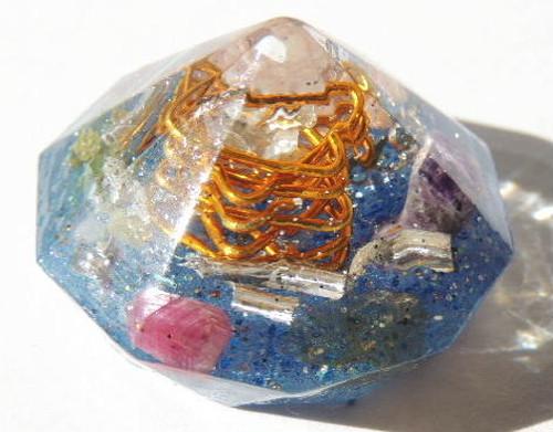 ダイヤモンド型 ブルー ミックスパワーストーン