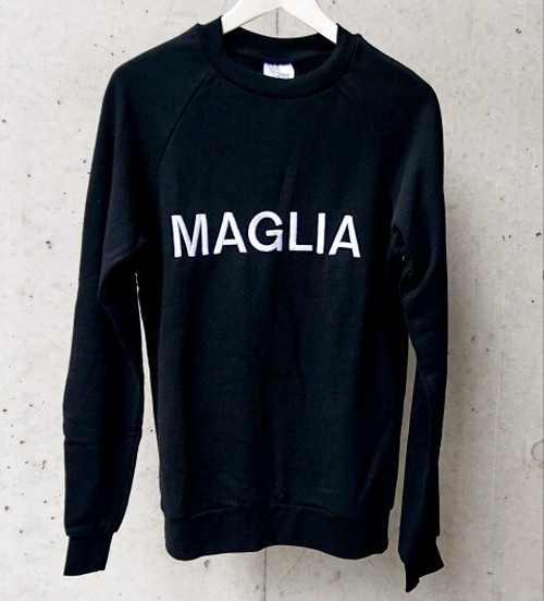 MAGLIA(マリア) スウェット 刺繍MAGLIA ブラック