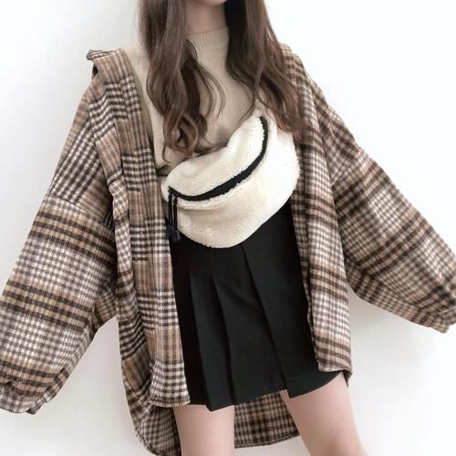 half pleats mini skirt 《oct-23》