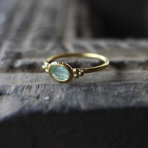 Jaipur gem リング -emerald- #12