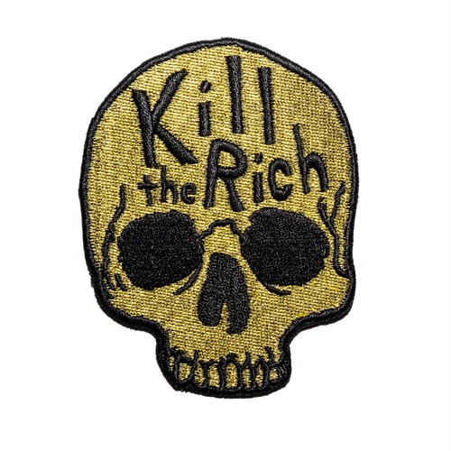 "Pretty Bad Co""Kill The Rich Embroidered Patch"""