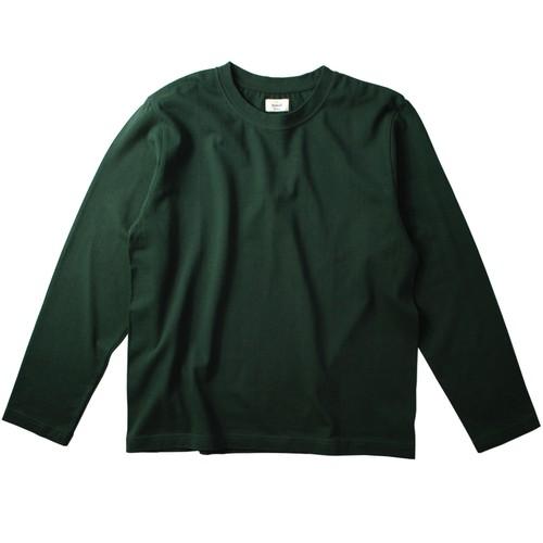 ※アウトレット品 Men's 丸胴長袖Tシャツ ダークグリーン LLサイズ