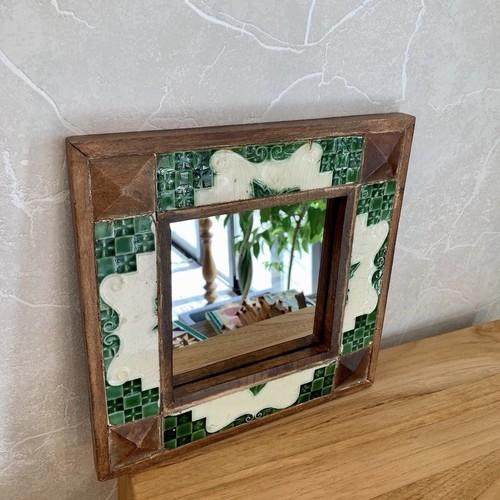 antique tile mirror