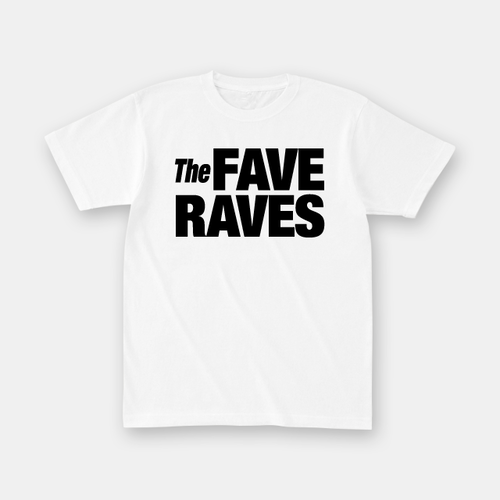The Fave Raves ロゴTシャツ (white)