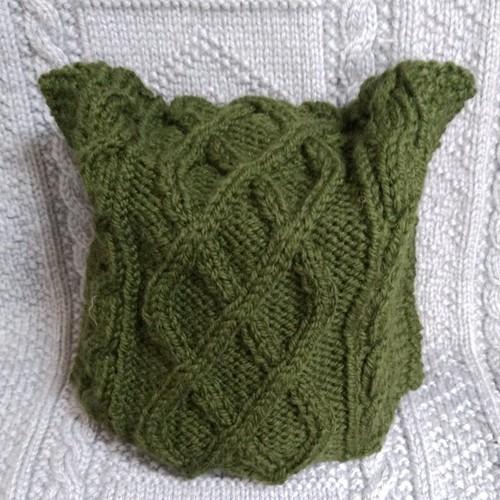 【手編み】ネコ耳ニット帽