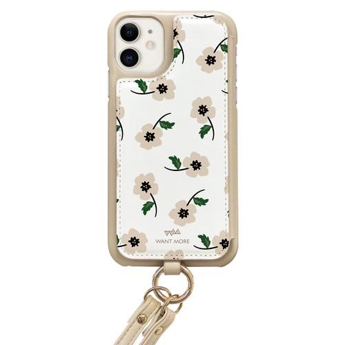 iPhoneケース ショルダー ベージュ(BELLA1 ベージュS)