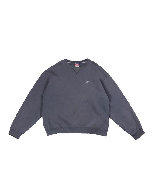 champion damaged black sweat