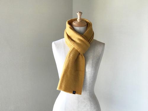 縮絨Woolの筒編みふっくらマフラー Mastered
