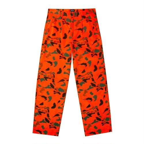 Double-Pleat Camo Corduroy Trouser