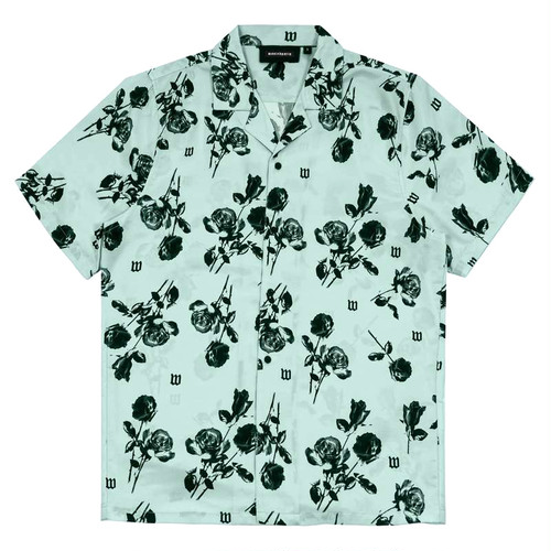 WASTED PARIS Allover Black Charming Shirts MINT