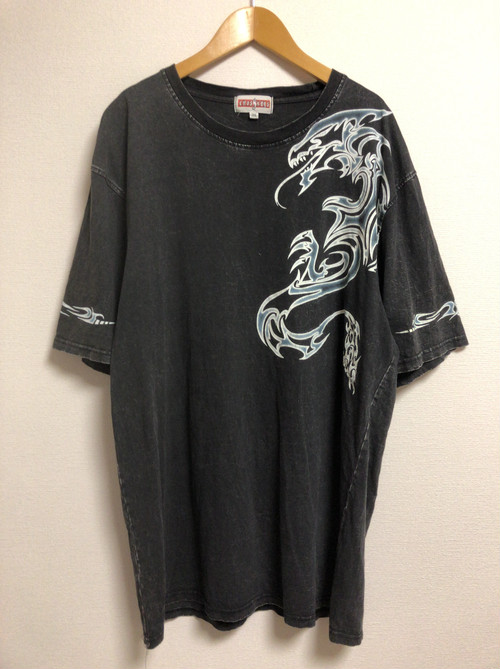 late90's〜early2000's tribal tattoo dragon T's