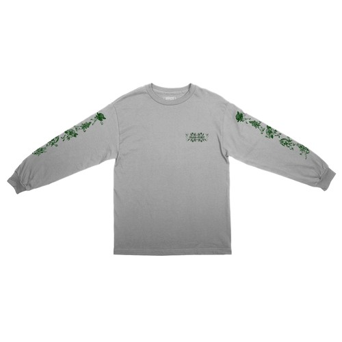 PASS PORT / FLORAL FRIENDS L/S TEE -HEATHER GREY-