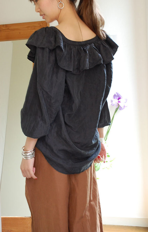 Silk black blouse