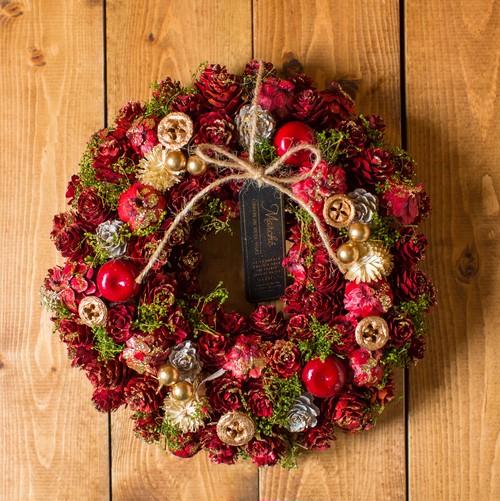 静かな主張/リース【クリスマス・花のプレゼント】(自然素材)