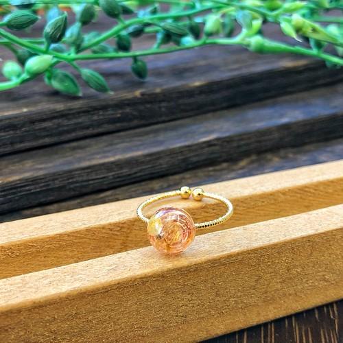 オルゴナイトリング 指輪 ルチルクォーツ 真鍮 フリーサイズ