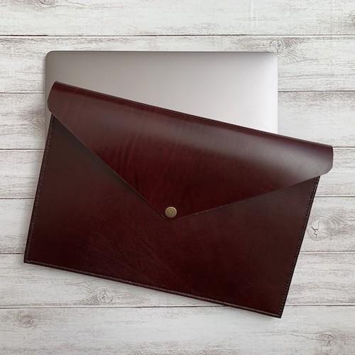 13インチ本革ノートPCケース 名入れ(焼印)無料 クラッチバッグ ルガトショルダー カラー10色