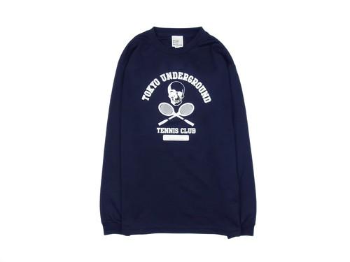 TUTC DryロングスリーブTシャツ ネイビーxホワイト LS-001