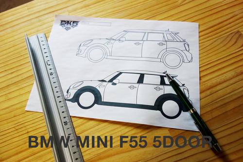 BMW MINI F55 5DOOR用 サイドラインテンプレート