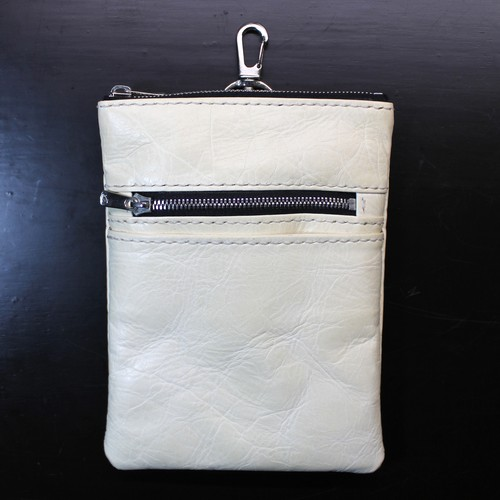 Horsehide Mobile Pouch -CREAM-