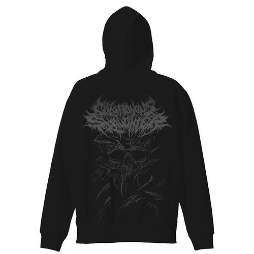 【残りわずか】I Need You Dead Zip-up Hoodie Black × Black
