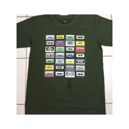 カセットテープ Cassette Tape プリントTシャツ