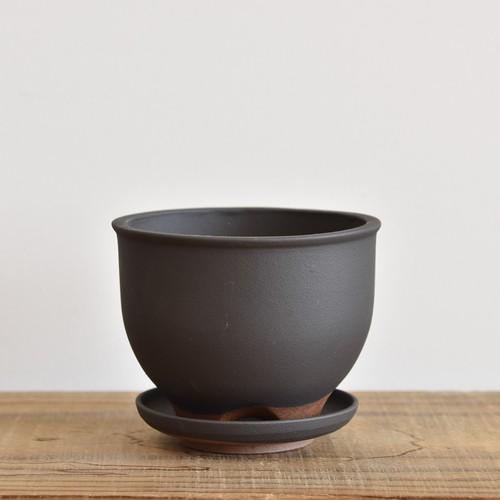 伝市鉢4寸コウロ型/受け皿付き【取り置き専用】