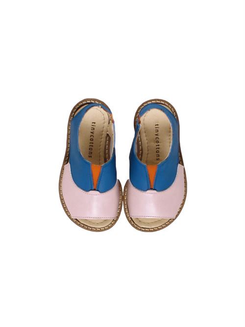 tinycottons / color block sandals[BLUE×PALE PINK]