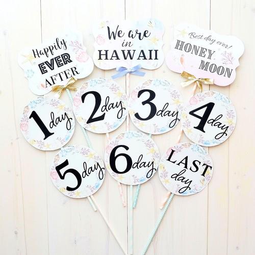【Wedding】ハネムーンフォトプロップス・beach (10本セット)※Hawaii,Guam,Bali,Okinawa選択可能