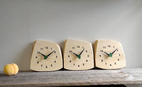 オーダー時計(数字あり) 時計一個の価格です 有機三連時計