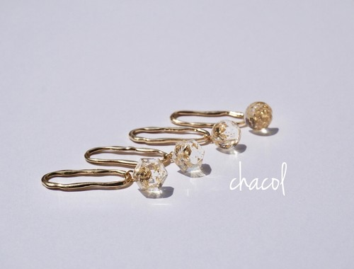 clear gold hoop
