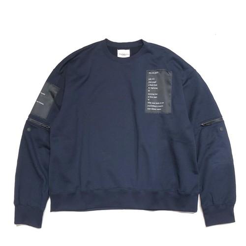 sc.0051AW19 : oversized crew neck sweatshirt.