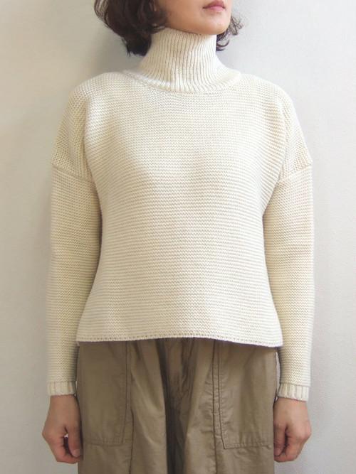 Kerry Woollen Mills ケリーウーレンミルズ Pearl Stitch Polo Neck LITE パール ステッチ ポロ ネック ライト PureAran sweater セーター Ladies レディース イギリス製 MadeinEngland KW018-015