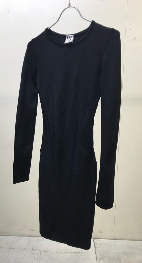 1990s PLEATED TIGHT DRESS