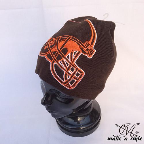 ブラウンズ BROWNS ニットキャップ ビッグロゴ ニット帽 NFL B系 ストリート系 ヒップホップ ギャング マフィア スケーター パンク ロック sk8 バイカー 西海岸 492